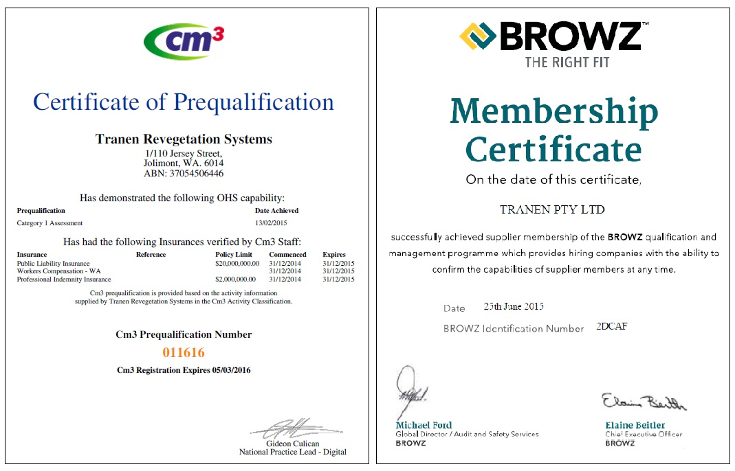 Combine Cm3 and BROWZ certs 150921